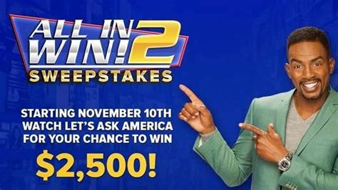Ask Sweepstakes - let s ask america all in 2 win sweepstakes sweepstakesbible