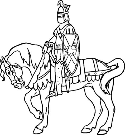 printable pictures knight on horseback people coloring pages category printable coloring pages