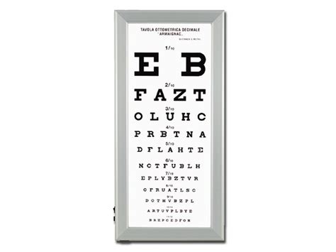 tabellone lettere oculista ultra slim led optometric chart armagnac