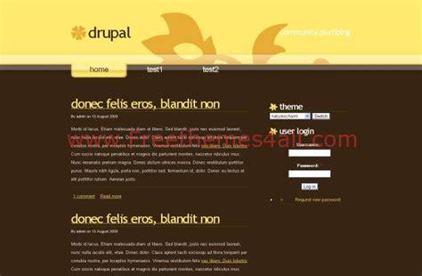 theme line yellow free yellow brown business free drupal theme download