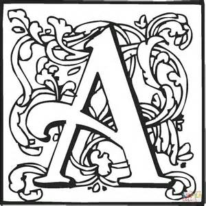 lettere miniate da colorare dibujo de la letra a para colorear dibujos para colorear