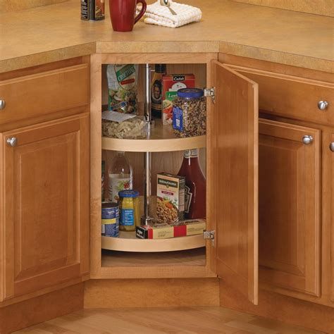 lazy susan cabinet organizer knape vogt 31 5 in x 24 in x 24 in full round wood