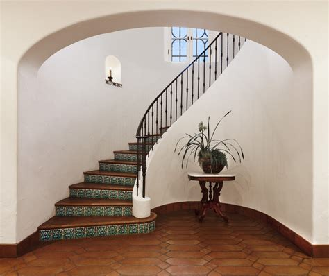 Spanish Wrought Iron Chandeliers Spanish Colonial Mediterranean Staircase Santa