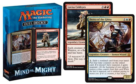 magic deck list duel decks mind vs might magic the gathering spoilers