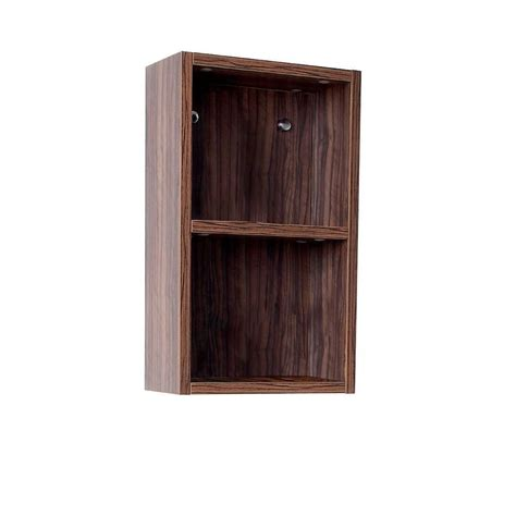 bathroom linen side cabinet fresca walnut bathroom linen side cabinet with 2 open