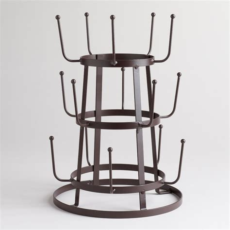 Rack To by Wire 3 Tier Glass Drying Rack World Market