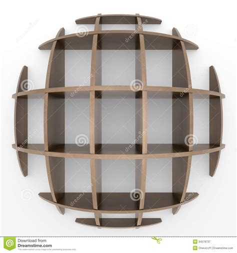 shelves in the shape of a circle royalty free stock