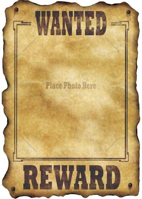 Wild West Wanted Poster Photo Decoration Western Wanted Poster Template