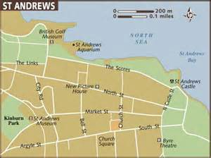 map of st