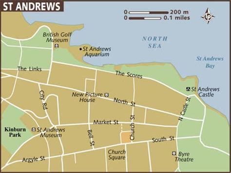 andrew map map of st