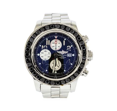 auction breitling stainless steel 9 00 ctw