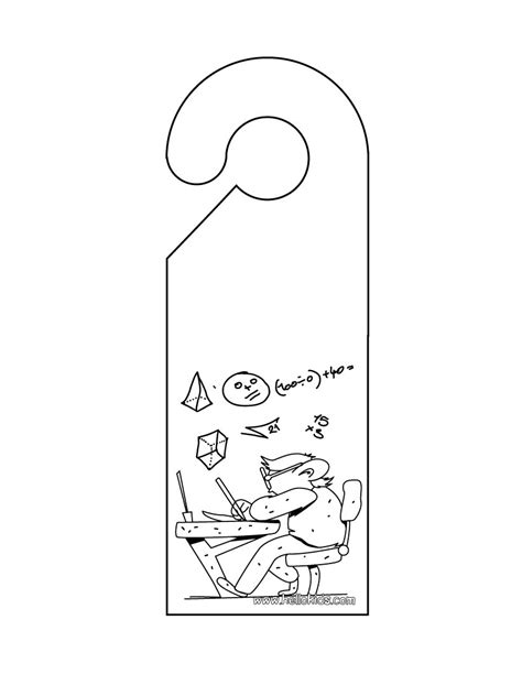 coloring pages not printable do not disturb door hanger coloring pages hellokids