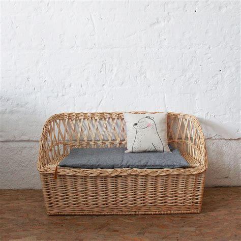 banc osier mobilier vintage banc coffre osier atelier du petit parc