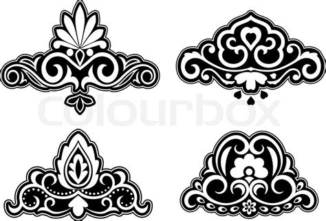 flower pattern vector border flower patterns and borders for design and ornate stock