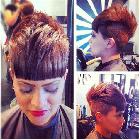 mohawk with fringe pixie mohawk with blunt bangs shave it all off haircuts