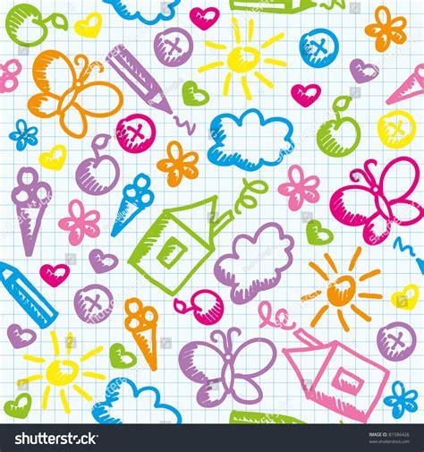 cute kid pattern cute kid seamless pattern on paper stock vector 81586426