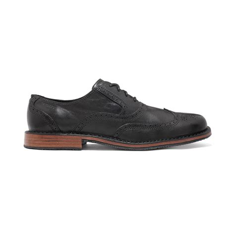 sebago brattle ii wingtip shoes in black for lyst
