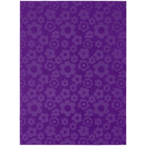 Area Rugs Purple Garland Rug Flowers Purple 7 Ft 6 In X 9 Ft 6 In Area Rug Cl 16 Ra 7696 18 The Home Depot