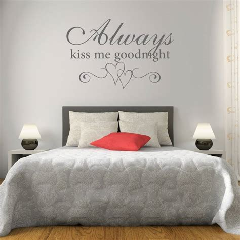 wall stickers for bedroom kiss me goodnight bedroom wall sticker by mirrorin