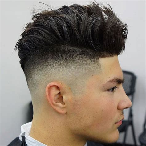 long hair witj side fade 31 men s fade haircuts men s haircuts hairstyles 2017