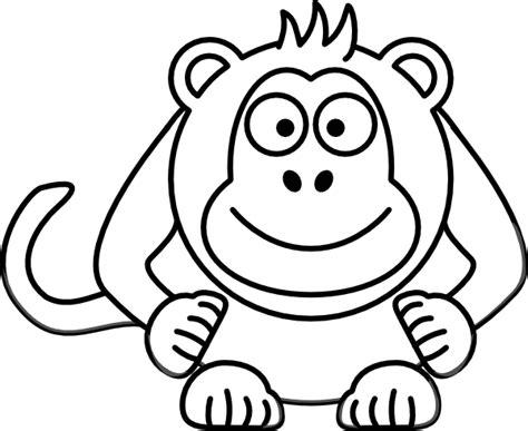 cartoon white black and white cartoon monkey clip art at clker com