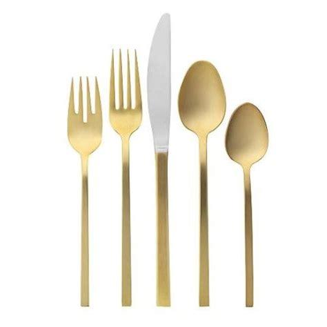 ikea besteck gold gold flatware 5 set west elm gold cutlery
