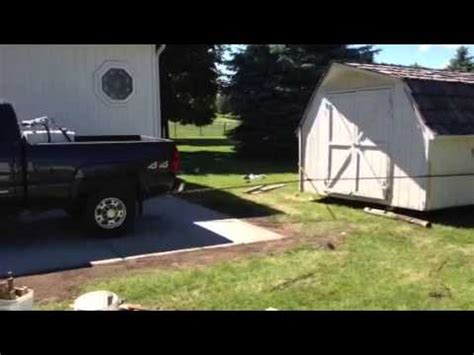 Moving A Large Storage Shed