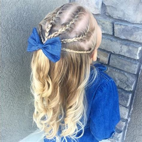 simple hairstyles with one elastic magnifiques coiffures pour petite fille tresses faciles