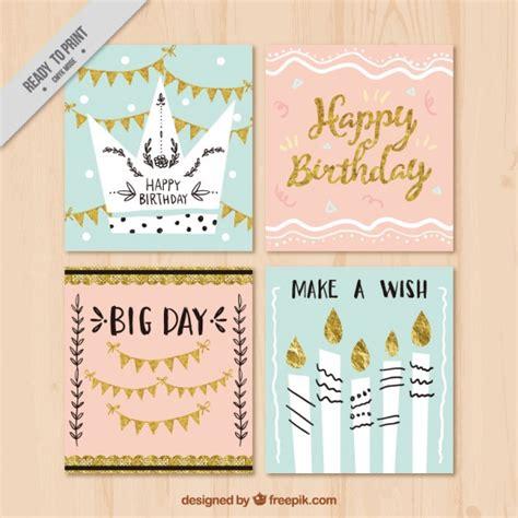 imagenes de cumpleaños vintage set de tarjetas de cumplea 241 os vintage con detalles dorados