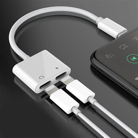 for iphone 7 7 plus 8 aux adapter and charge cable headphone adapter charger ebay