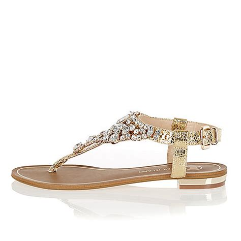 flat embellished sandals gold metallic embellished sandals flat sandals shoes