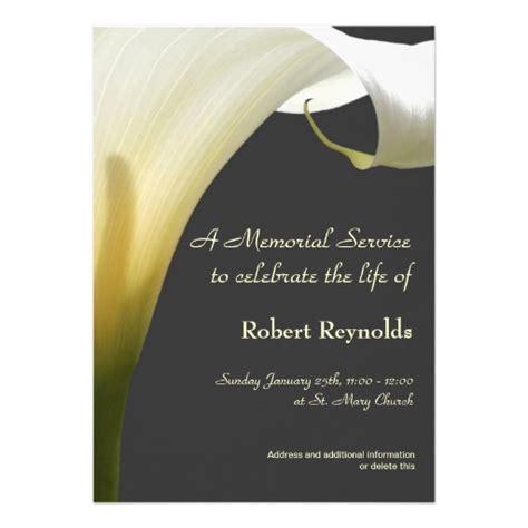Memorial Service Announcement Cards Template by Memorial Service Announcement