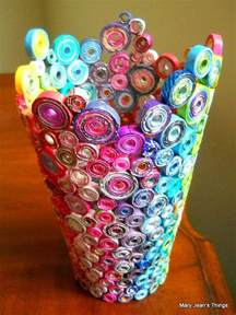 How To Make Useful Things Out Of Paper - beautiful vase made news paper construction paper and
