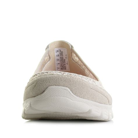 flex comfort shoes womens skechers ez flex 3 0 majesty natural beige flat