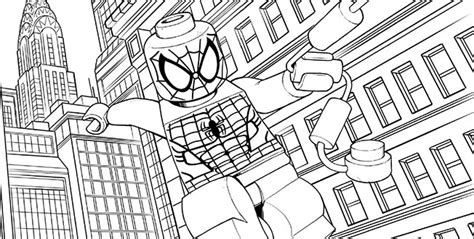 free coloring pages of lego superhero