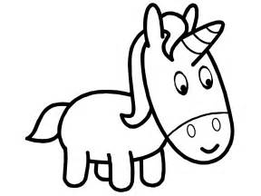 unicorn outline simple coloring pages gekimoe 11784