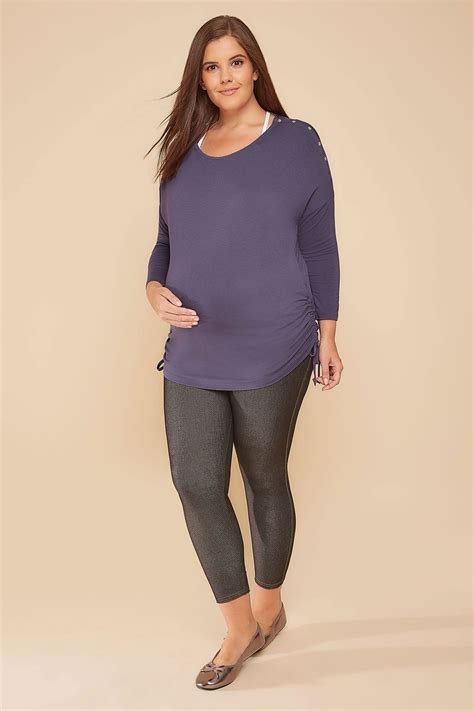 Po Address Finder Bump It Up Maternity Dusky Purple Top With Nursing Friendly Popper Shoulders Plus