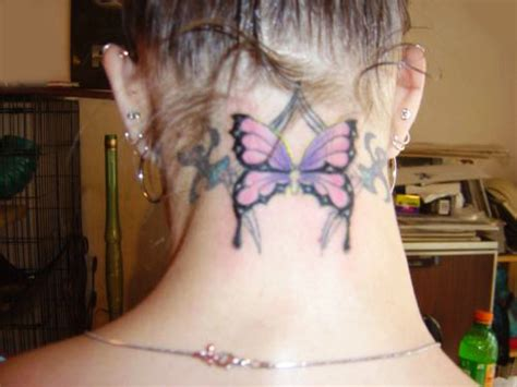 butterfly tattoo back neck 25 beautiful tattoo designs for neck backside sheplanet