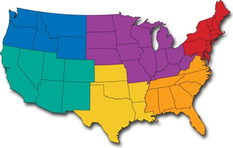 5 regions of map region map of the united states