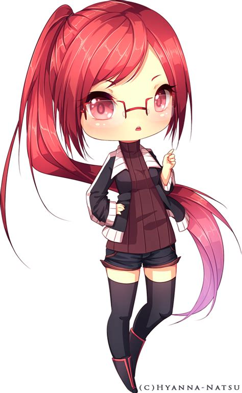 cute anime chibi girl with red hair c miginta by hyanna natsu on deviantart