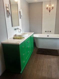 refinished vanity on
