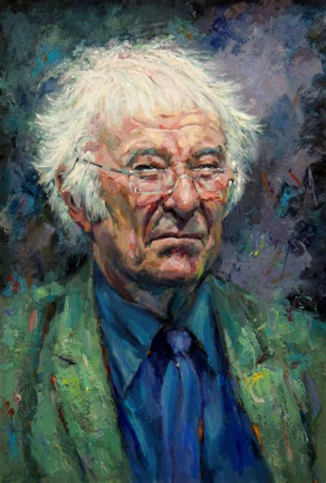 michael heaney stanley painting donated by brohan portrait of heaney in