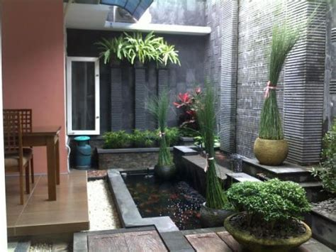 Nomor Rumah Kayu Pot Landscape 140 foto gambar contoh desain halaman belakang minimalis