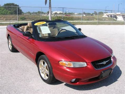Chrysler 2000 Convertible by Used 2000 Chrysler Sebring Jxi Convertible For Sale