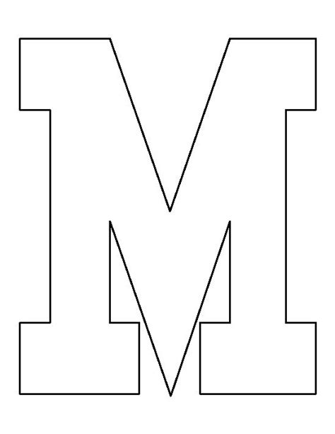 o m template letter m pattern use the printable outline for crafts