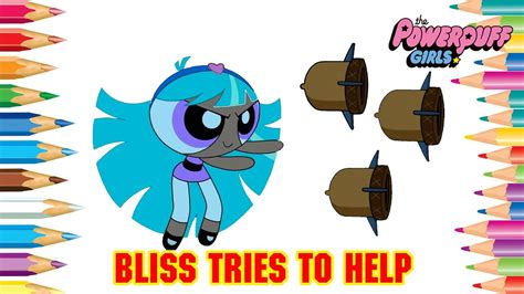 coloring pages bliss youtube powerpuff girls coloring pages bliss tries to help
