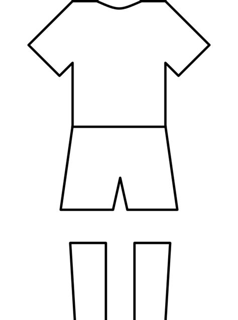 football design template blank football kit template clipart best