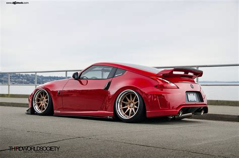 custom nissan 370z kits forged avant garde rims on a 370z nismo carid com