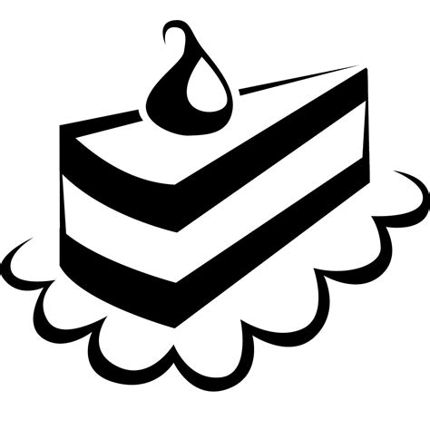 Black And White Top 1 cake clipart black and white clipartxtras