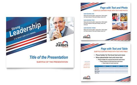 political postcard templates political caign powerpoint presentation template design